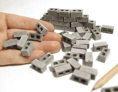 1:24 Scale Mini Cinder Blocks (50pk)