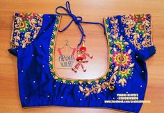 Beautiful red color designer blouse with floret lata elephants birds design hand embroidery thread work. Cutwork Blouse Designs, Kids Blouse Designs, Pattu Saree Blouse Designs, Embroidery Neck Designs, Bridal Blouse Designs, Blouse Neck Designs, Hand Designs, Embroidery Thread, Flower Designs