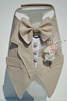 Tuxedo Linen Boy Dog Harness by KOCouture on Etsy Kocouture dog clothes dog apparel small dog chihuahua yorkie wedding groomsman ring bearer puppy Dogs Party, Boy Dog Clothes, Dog Clothing, Yorkie, Chihuahua, Dog Tuxedo, Dog Clothes Patterns, Pet Fashion, Dog Wedding