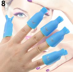 1-Set (10 Pcs) Good Popular Plastic Nails Art Clip Cap Non-Toxic DIY Peel Tips Cleaner Care Color Blue -- You can find out more details at the link of the image.