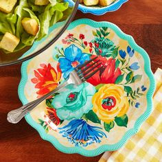 """NEW PIONEER WOMAN DELANEY 8.7"""" PLATE ~ BPA FREE MELAMINE ~ NEW MARCH 2021 #ThePioneerWoman #Country #AllOccasions The Pioneer Woman, Pioneer Woman Kitchen, Pioneer Women, Tea Set, House Ideas, March, Easter, Country, Spring"""