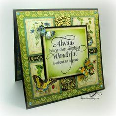 Graphic 45, Quietfire Design, Always believe, Kathy Jo Wood, card, Nature Sketchbook, Spellbinders, Distress Ink