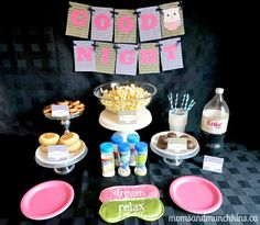 Slumber Party Ideas (with free printables) #KidsParties