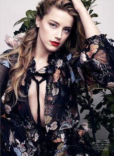 Amber Heard by Liz Collins for Elle US July 2015 Amber Heard Cabelo, Amber Heard Hair, Ambre Heard, Elle Us, Provocateur, Elle Magazine, Models, Hollywood Celebrities, Hollywood Actresses