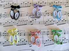 Scrapbooking Supply Ballet Dance Shoes by FlourishingAgain on Etsy, $5.00
