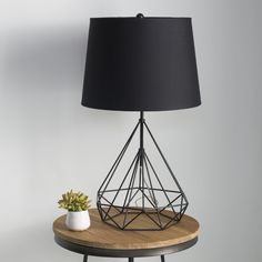 Locating the best lamp for your home can be tough because there's such a huge selection of lamps to choose from. Discover the most suitable living room lamp, bed room lamp, table lamp or any other style for your specific space. Black Table Lamps, Black Lamps, Modern Table Lamps, Unique Lamps, Night Table Lamps, Chandelier Design, Table Ikea, Diy Table, Bedroom Lamps