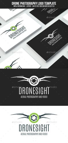 Drone Photography Logo Design Template Vector #logotype Download it here: http://graphicriver.net/item/drone-photography/15591143?s_rank=31?ref=nesto