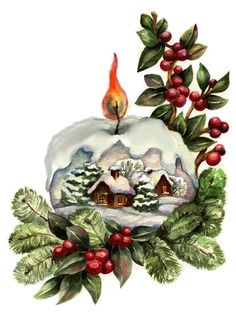Vintage Christmas Paintings Greeting Card 25 Ideas For 2019 Christmas Snow Globes, Christmas Scenes, Noel Christmas, Victorian Christmas, Retro Christmas, Christmas Greetings, Winter Christmas, Christmas Crafts, Christmas Decorations
