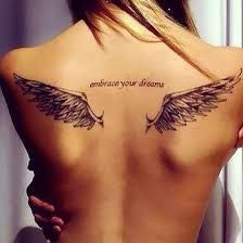 Image result for small angel wing tattoos
