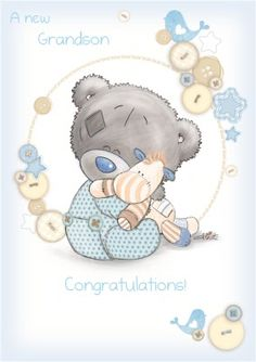 A new grandchild is a reason to celebrate! Let Tatty Teddy help share the joy.