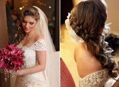 penteado de lado para noiva com veu - Pesquisa Google