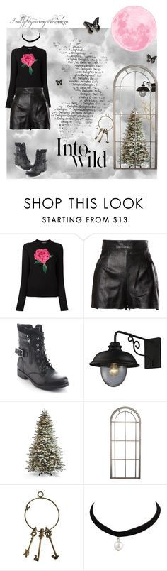 """""""Romantic vampire"""" by dustydreamy ❤ liked on Polyvore featuring Dolce&Gabbana, Moschino, Refresh, ELK Lighting, Frontgate, Pier 1 Imports and Anja"""