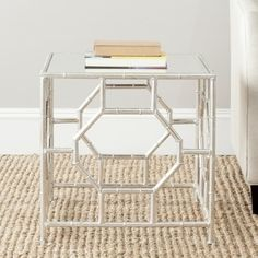 Safavieh Treasures Rory Silver/ Mirror Top Accent Table - Free Shipping Today - Overstock.com - 15277080 - Mobile