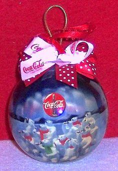 ❤Coca-Cola Christmas Polar Bear Ornament