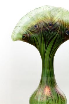 Peacock vase in Art Nouveau styling.