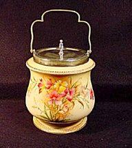 Carltonware Biscuit Barrel, Circa 1894.