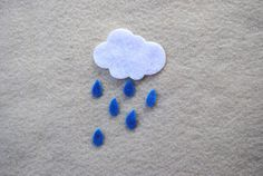 Raindrops/Teardrops/Seeds Set of 100 by ifeltsprightly on Etsy, $2.00