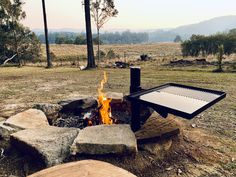 Sandstone firepit with custom designed hot plate at Shady Tree, Fairytale Cottage, Outdoor Baths, Cottage In The Woods, Stargazing, Natural Wonders, Night Skies, Outdoor Activities, Surfboard