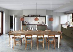 Le béton ciré dans la cuisine: où l'intégrer?