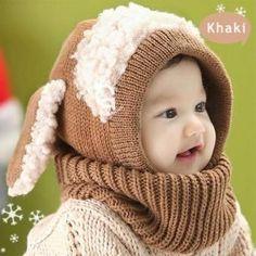 def8626728e Datework Winter Baby Kids Girls Boys Warm Woolen Coif Hood Scarf Caps Hats    This is