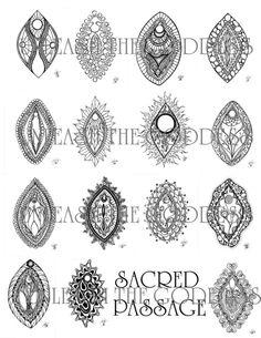 Sacred Passage Coloring Packet by UnleashtheGoddess on Etsy