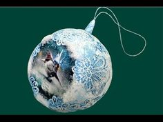 Handmade Christmas tree ball. Новогодний елочный шар своими руками - YouTube