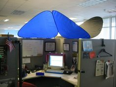 CubeShield - Cubicle Roof #office #cubicle & Cubicle Canopy...this look familiar to any of my work buddies ...