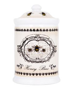 Another great find on #zulily! Cream Vintage 'Honey Bees' Canister #zulilyfinds