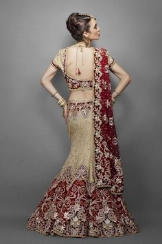 Gold Brocade Bridal Lehenga