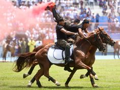 Salvadoran soldiers of the cavalry regiment show their skills during a ceremony to commemorate the 194th anniversary of Central American independence, in San Salvador, on September 15, 2015. El Salvador, Guatemala, Honduras, Nicaragua and Costa Rica declared their independence from Spain on September 15, 1821.  Marvin Recinos, AFP/Getty Images