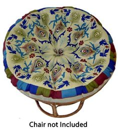 Cotton Craft - Papasan - Peacock Sage - Overstuffed Chair Cushion - Sink into our super comfortable Papasan cushion - Really Thick and Overs...
