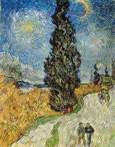 Vincent van Gogh: Road with Cypress and Star. Oil on canvas. Saint-Remy: June, 1889. Otterlo: Kroller-Muller Museum.