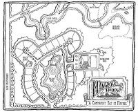 Spiderwick Chronicles Book 3 - Mangrove Hollow Map - from Book Reviews and More: The Wyrm King - Holly Black and Tony DiTerlizzi