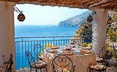 heavenly restaurant near the Emerald Grotto, Italy