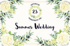 Watercolor Summer Wedding by Spasibenko Art on @creativemarket