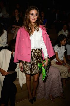 Olivia Palermo attends the Valentino show as part of the Paris Fashion Week Womenswear  Spring/Summer 2014 at Espace Ephemere Tuileries on O...