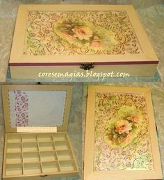Pintura e decoupage-Paint and decoupage