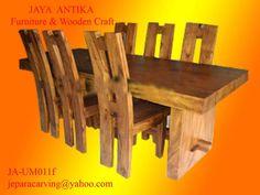 Kode : JA-SM011f Nama : Set Meja Makan Kursi H 2  Set Meja Makan Kursi H produk dari Jaya Antika, terbuat dari kayu pilihan yang dikerjakan oleh tukang kayu yang sangat profesional dalam pembuatan set meja makan.Set Meja Makan kursi H ini terbuat
