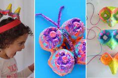 14 bricolages pour enfants à faire avec des cartons d'oeufs!