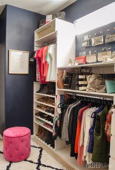 35 new ideas small master closet organization thoughts Smart Closet, Glam Closet, Modern Closet, Closet Bedroom, Closet Space, Clever Closet, Closet Redo, Master Bedroom, Small Master Closet