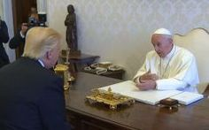 "{    POPE FRANCIS SAYS AMERICA HAS 'A DISTORTED VISION OF THE WORLD'    }  #CNSNews ... ""Pope Francis with President Donald Trump in the Vatican, May 24, 2017."".... http://www.cnsnews.com/news/article/cnsnewscom-staff/pope-francis-says-america-has-distorted-vision-world"