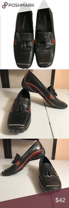 Sesto Meucci Ladies Driving Loafers Size 6 M Sesto Meucci Ladies Driving Loafers Size 6 M Black and Brown Leather with Tassel. Some leather creasing where foot bends. Pre-Owned Sesto Meucci Shoes Flats & Loafers