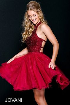 9937a6541bc Burgundy Beaded Fit and Flare Homecoming Dress 47510  ShortDress   PartyDress  GoingOutDress  Jovani