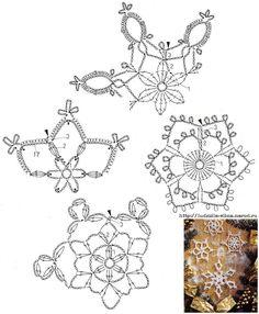 images attach c 11 116 906 Crochet Snowflake Pattern, Crochet Motif Patterns, Crochet Stars, Crochet Snowflakes, Crochet Diagram, Thread Crochet, Crochet Doilies, Crochet Flowers, Crochet Winter