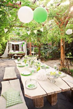 Summer party in green Porches, Garden Cottage, Home And Garden, Gazebos, Interior Garden, Exterior, Outside Living, Outdoor Entertaining, Dream Garden