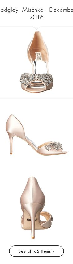 """""""Badgley  Mischka - December 2016"""" by lynnspinterest ❤ liked on Polyvore featuring shoes, pumps, d orsay pumps, stiletto pumps, peeptoe pumps, high heel shoes, high heeled footwear, pointed toe stilettos, pointy high heel pumps and pointy toe shoes"""