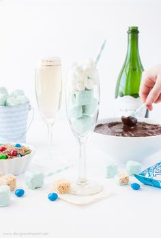 Celebrate girls night in with this DIY Rice Krispies Treats Fondue Party! This Chocolate peanut butter fondue will have your taste buds melting. #KreateMyHappy #Ad