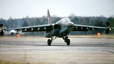 "Sukhoi Su 25 ""Frogfoot"" attack aircraft, sometimes referred to as the Russian A-10."