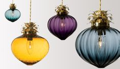 """Rothschild and Bickers """"Flora"""" shade. Hand blown in England and I want one on my landing."""