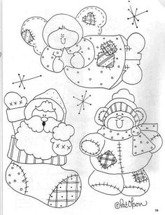 .                                                                                                                                                                                 Mais Christmas Applique, Christmas Embroidery, Christmas Coloring Pages, Coloring Book Pages, Applique Patterns, Craft Patterns, Snowman Patterns, Christmas Templates, Christmas Printables